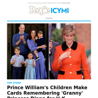 Prince William's kids make cards for 'granny' Princess Diana for U.K. Mother's Day