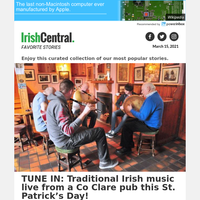 Live Irish music from a Co Clare pub on IrishCentral this St. Patrick's Day!