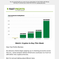 Potential breakout cryptos of the week