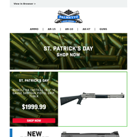 Happy St. Patrick's Day From PSA | Benelli H20 M4 Tactical 12GA Shotgun $1,999.99