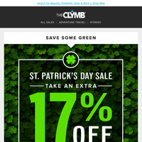 Save an Extra 17% Sitewide for St. Patrick's Day