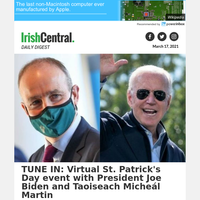 TUNE IN: Virtual St. Patrick's Day event with President Biden and Taoiseach Martin