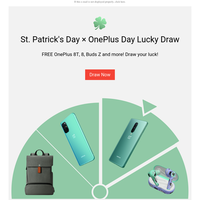 ☘️St. Patrick's Day × 🎁 OnePlus Day Lucky Draw