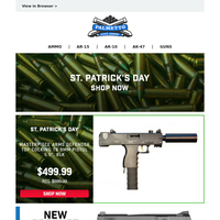 St. Patrick's Day Deals | Masterpeice Arms MPA30T 9mm Pistol $499.99