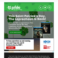 Happy St. Patrick's Day: Win a LEPRECHAUN: The Complete Movie Collection on Blu-ray