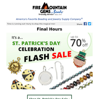 FINAL HOURS - St. Patrick's Day Flash Sale!