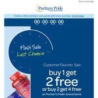 Last chance—Buy 1 Get 2 Free