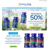 Up to 50% > Save on joint health