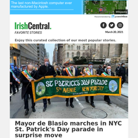 Mayor de Blasio marches in NYC St. Patrick's Day parade in surprise move