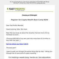 Closing at midnight: $1.6 million crypto education series