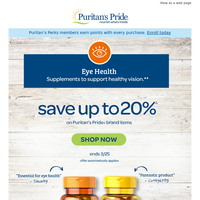 Up to 20% OFF Eye Health
