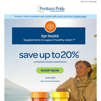 Eye on the prize: 20% OFF