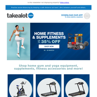 Shape up and stay healthy with up to 35% OFF Home Fitness Equipment and Sports Supplements 🧘🏻♀️🏋️💊