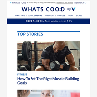 Set the right muscle-building goals