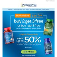 Sale ENDING: Buy 2 Get 3 Free