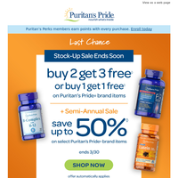 Why not stock up? Last chance to get 3 FREE