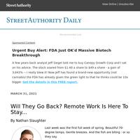 Urgent Buy Alert: FDA Just OK'd Massive Biotech Breakthrough