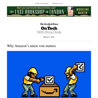On Tech: Why Amazon's union vote matters
