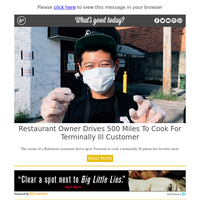 Feel Good Friday: Restaurant Owner Drives 500 Miles to Cook for Terminally Ill Customer
