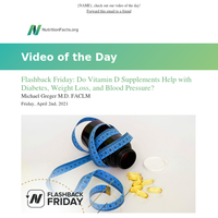 Flashback Friday: Do Vitamin D Supplements Help with Diabetes, Weight Loss, and Blood Pressure?