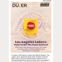 🔴  Los Angeles Lakers: Time To Hit The Panic Button?