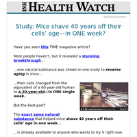 Study: Mice shave 40 years off their cells' age—in ONE week?