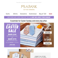 Last chance: Easter Sale ends tonight. Up to 80% off original prices!