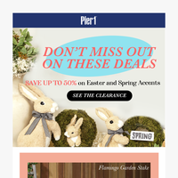 LAST CHANCE: 50% OFF on Easter Decor 👯♀️