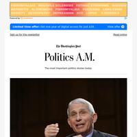 Politics A.M.: Fauci pushes back on GOP criticisms, calling claims 'bizarre'