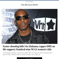 Easter shooting kills 1 in Alabama; rapper DMX on life support; Stanford wins NCAA women's title