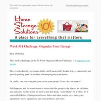 Garage Organization: Week #14 of 52 Week Organized Home Challenge