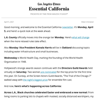 Essential California: A second pandemic Easter
