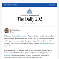 The Daily 202: Four questions about John Boehner's new book