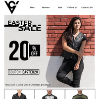 Final Hours: Easter Sale - Get 20% Off Storewide
