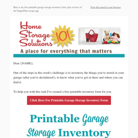 Printable Garage Storage Inventory Form {Plus Premium Group Preview}