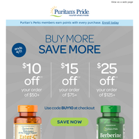Will you save $10, $15 or $25?