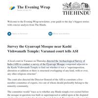 The Evening Wrap: Survey Gyanvapi mosque near Kashi temple, court tells ASI