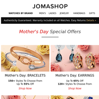 🌼 Mother's Day SALES are HERE   Up to 65% OFF!
