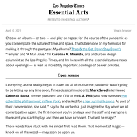 Essential Arts: Performance returns!