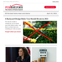 6 backyard design rules to break; Kamala Harris' newly renovated digs