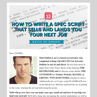 {NAME}, this webinar can help you sell your feature script