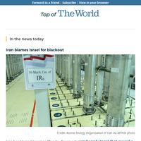 Iran blames Israel for blackout, vows revenge