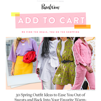 30 spring outfit ideas (because we're tired of sweatpants)