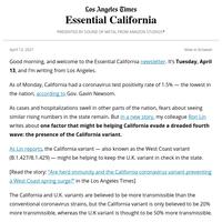 Essential California: The West Coast variant upside?