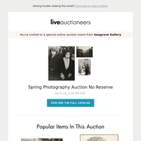 Seagrave Gallery | Spring Photography Auction - No Reserve