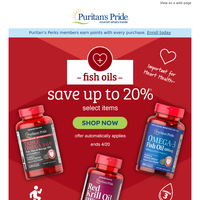 New deal on Fish Oil >> up to 20% off