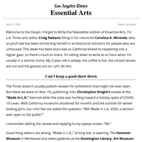 Essential Arts: 'Made in L.A.,' at long last
