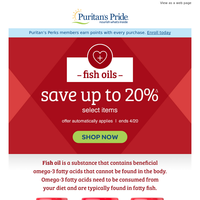 Dive into Fish Oils with 20% off