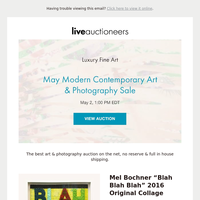 Luxury Fine Art | May Modern Contemporary Art & Photography Sale