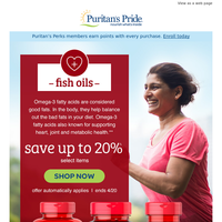 We're hooked! Are you? 20% off Fish Oils